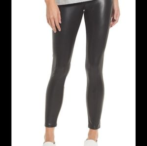 H&M Divided Faux Leather Black Leggings